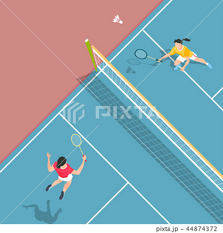 Vector - Aerial view of sport games in flat design style illustration 006 44874372