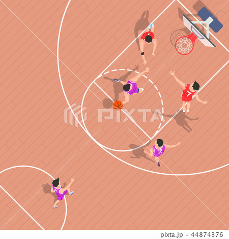 Vector - Aerial view of sport games in flat design style illustration 003 44874376
