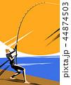 釣り フィッシング 魚採りのイラスト 44874503