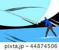 釣り フィッシング 魚採りのイラスト 44874506