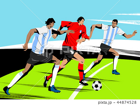 Various sports players with dynamic colorful scratched vector illustration 002 44874528