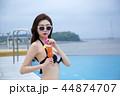 Summer Vacation of beautiful women,having fun in the water 065 44874707