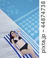 Summer Vacation of beautiful women,having fun in the water 063 44874738