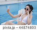 Summer Vacation of beautiful women,having fun in the water 044 44874803