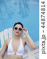 Summer Vacation of beautiful women,having fun in the water 039 44874814
