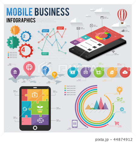 Mobile Businees Infographic 44874912