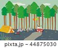 キャンプ 車 自動車のイラスト 44875030