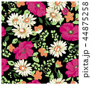 花柄 ポピー マーガレットのイラスト 44875258