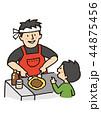 お好み焼き 注文 屋台のイラスト 44875456