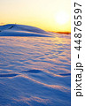 鳥取砂丘 砂丘 夕暮れの写真 44876597