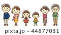 人物 ファミリー 家族のイラスト 44877031