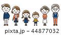 人物 ファミリー 家族のイラスト 44877032