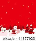 町並み 冬 雪景色のイラスト 44877923