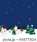 町並み 冬 雪景色のイラスト 44877924