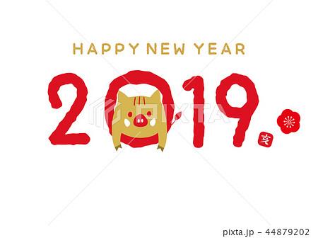 2019 亥 年賀状 44879202