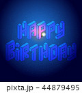 Isometric happy birthday design element 44879495