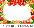 フレーム クリスマス 装飾のイラスト 44880048