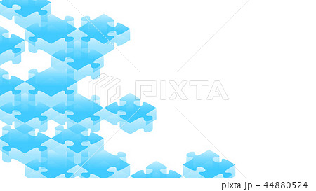 Jigsaw puzzle transparency 3D isometric virtual 44880524