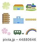バス 電車 住宅のイラスト 44880646