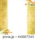 紅葉 秋 和紙のイラスト 44887345