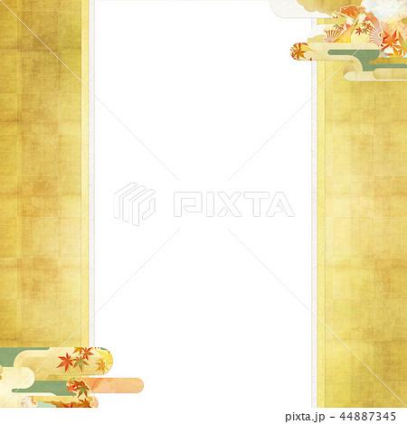 和-和風-和柄-背景-和紙-秋-紅葉-金-のし紙 44887345