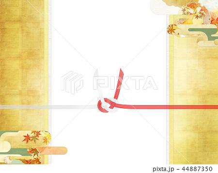 和-和風-和柄-背景-和紙-秋-紅葉-金-水引-のし紙 44887350