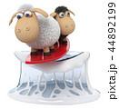 3d illustration funny sheep surf 44892199
