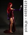 女性 マイク マイクロフォンの写真 44894819