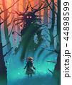 少女 木 モンスターのイラスト 44898599