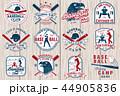 ベースボール 白球 野球のイラスト 44905836