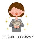 女性 お金 金持ちのイラスト 44906897