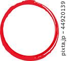 丸-紅白-シンボルー筆文字ー円ー年賀状素材 44920139