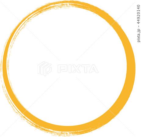金泊 円 手書き風ー筆文字ー年賀状素材ー丸のイラスト素材 44920140 Pixta
