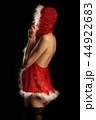 sensual nude girl in suit of miss santa 44922683