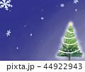 クリスマスツリー グリーティングカード 44922943