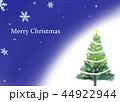 クリスマスツリー グリーティングカード 44922944