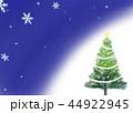 クリスマスツリー グリーティングカード 44922945