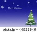 クリスマスツリー グリーティングカード 44922946