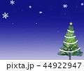 クリスマスツリー グリーティングカード 44922947