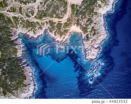 Beautiful beach top aerial view drone shot 44923532