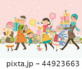 冬の家族のショッピング_積雪 44923663