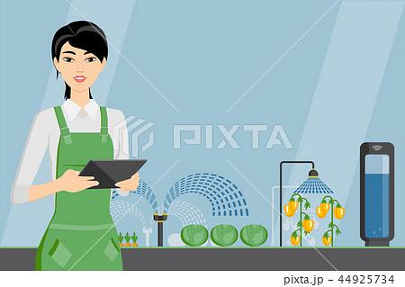 Woman farmer with tablet 44925734