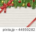 クリスマス リボン クリスマス飾りのイラスト 44930282