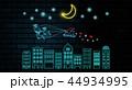 クリスマス 月 サンタクロースのイラスト 44934995