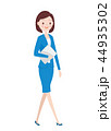 ビジネス 歩く ビジネスウーマンのイラスト 44935302