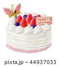 クリスマスケーキ クリスマス デコレーションケーキのイラスト 44937033
