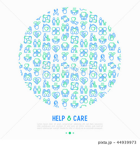 Help and care concept in circle 44939973