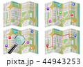 地図 拡大鏡 マーカのイラスト 44943253