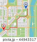 地図 道 号線のイラスト 44943317