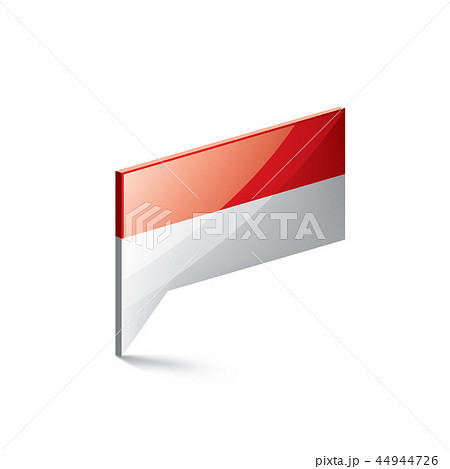 Indonesia flag, vector illustration on a white background 44944726